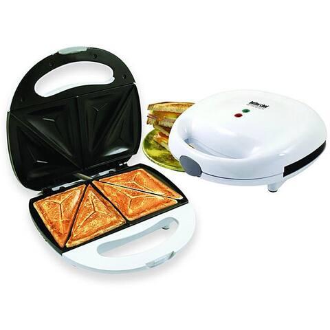 Better Chef IM-283W White Sandwich Panini Maker Compact Grill