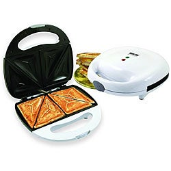 Better Chef IM-283W White Sandwich Panini Maker Compact Grill