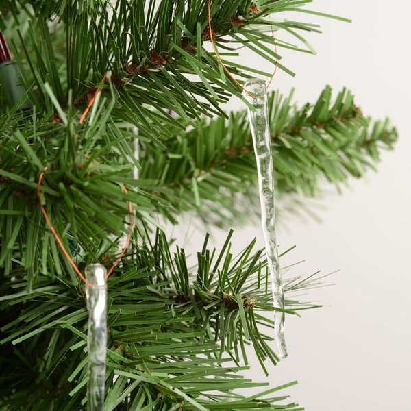 Handcrafted Recycled Glass Icicle Ornaments (Pack of 20)