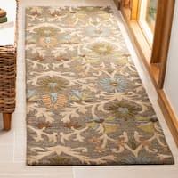 Safavieh Handmade Moroccan Cambridge Paradise Moss Green Wool Rug - 8' x 10'