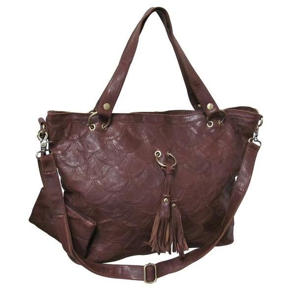 Amerileather Cherokee Leather Tote Bag