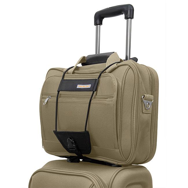 Travelon Black Nylon Add-a-bag Elastic Bungee Cord for Lu...