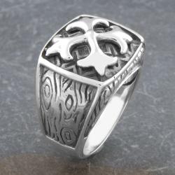 Sterling Silver Men's 'Fleur de Lis' Ring (Indonesia)