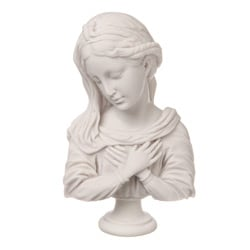 White Bonded Marble Holy Virgin Bust