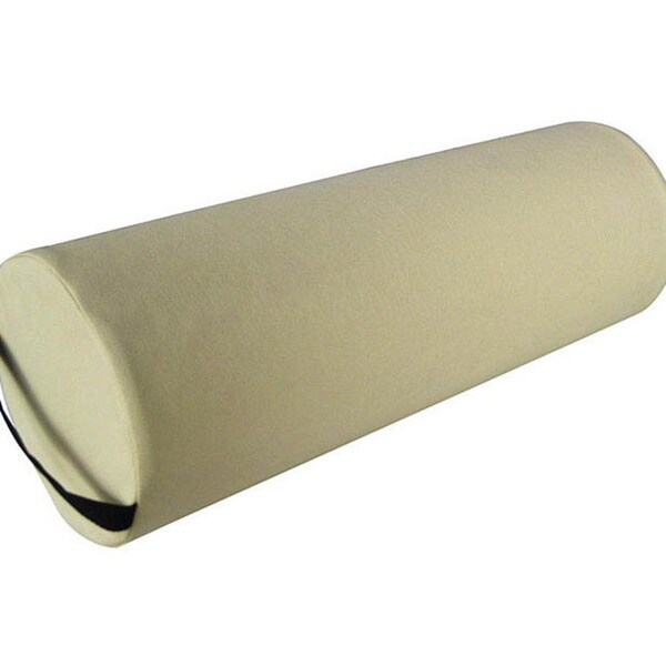 Large Beige Round Massage Table Bolster