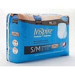 Inspire Extra Absorbency Small/ Medium Protective Underwear (Case of 5,120)