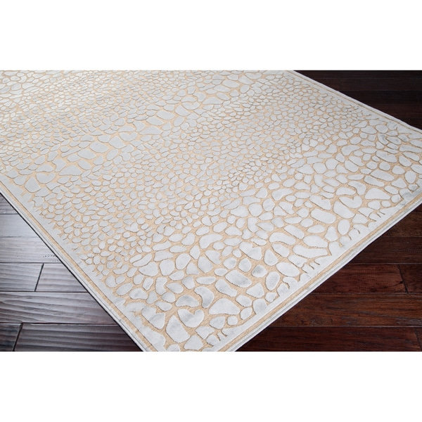 Grey Animal Print Abstract Area Rug - 7'6 x 10'6