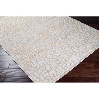 Meticulously Woven Grey Animal Print Abstract Rug (7'6 x 10'6)