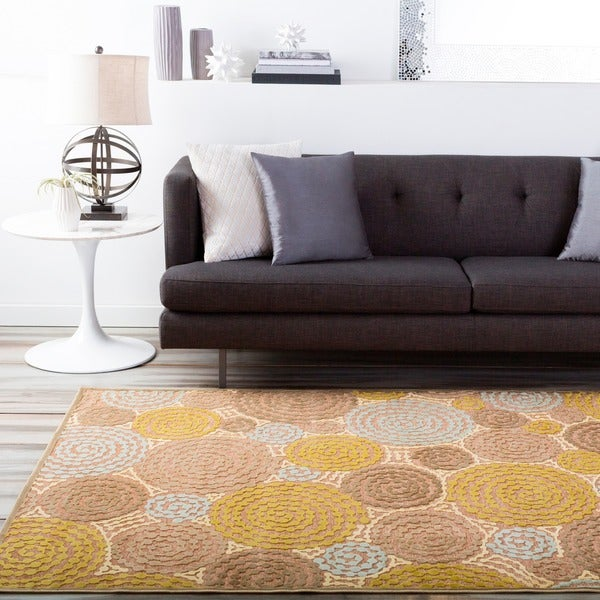 Meticulously Woven Circles Geometric Abstract Rug 7 6 X