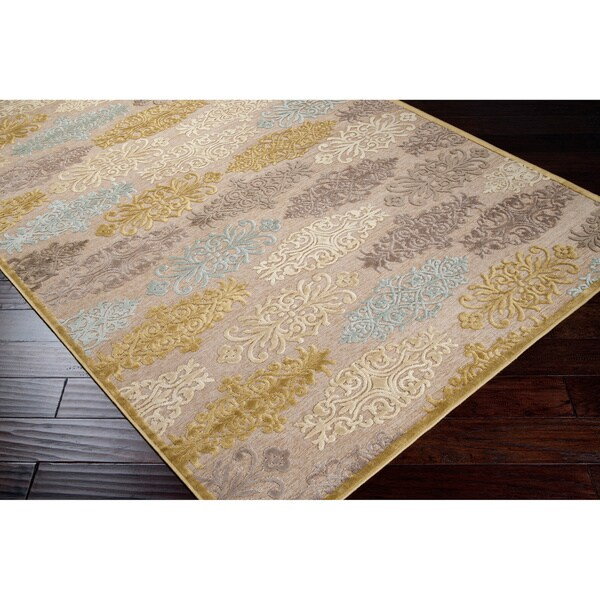 Meticulously Woven Multi Colored Damask Abstract Geometric Rug (5'2 x 7'6)