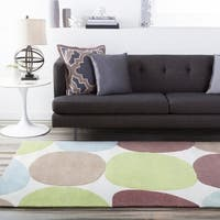 Hand-tufted Contemporary Multi Colored Circles Rocky Road Abstract Area Rug (8' x 11') - 8' x 11'