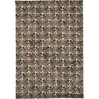 Artist's Loom Handmade Contemporary Geometric Natural Eco-friendly Leather Rug (3'x5')