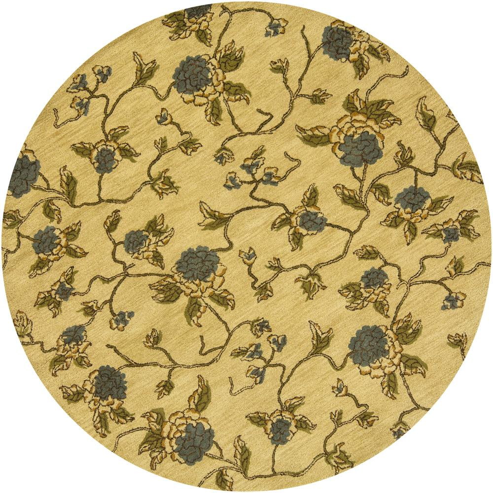 Artist's Loom Hand-tufted Transitional Floral Wool Rug - 7'9 Round