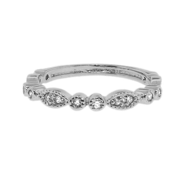 Sterling Silver Clear Cubic Zirconia Marquise-shape Ring