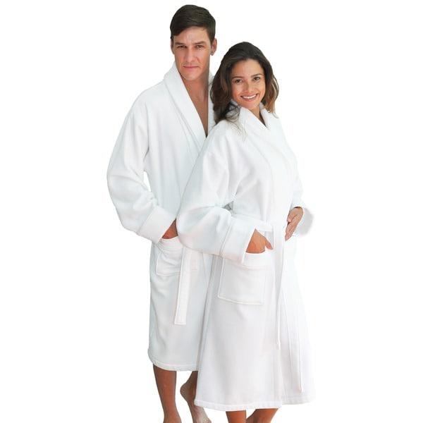 Authentic Hotel Spa Unisex Turkish Cotton Waffle Weave Terry Bath Robe