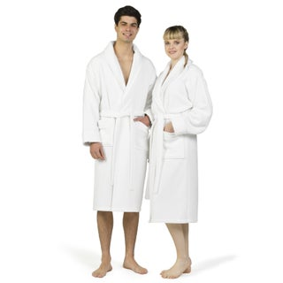 Authentic Hotel Spa Unisex Turkish Cotton Waffle Weave Terry Bath Robe (More options available)