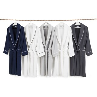Authentic Hotel Spa Unisex Turkish Cotton Waffle Weave Terry Bath Robe (2 options available)