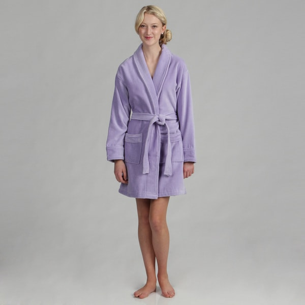 69dcc7a538 Shop Women s Cotton Terrycloth Bath Robe - Free Shipping Today ...