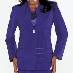 Divine Apparel Women's 3-piece Skirt Suit - Thumbnail 1