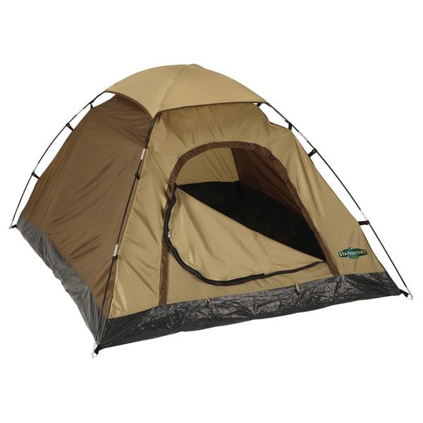 Stansport Olive-green Buddy Hunter Two-pole Quick-clip Nylon Dome Tent. Opens flyout.
