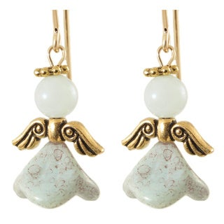 14k Gold Fill 'Angel of Serenity' Amazonite Earrings
