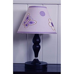 Lavender Butterfly Lamp Shade
