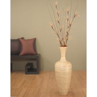 Natural Bamboo 25-inch Floral-optional Floor Vase