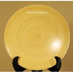 Hand-crafted Bamboo Serving Platters (Set of 2) - Thumbnail 2