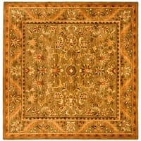 Safavieh Handmade Antiquities Kasadan Olive Green Wool Rug - 6' x 6' Square
