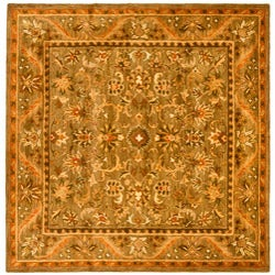 Safavieh Handmade Antiquities Kasadan Olive Green Wool Rug (8' Square)
