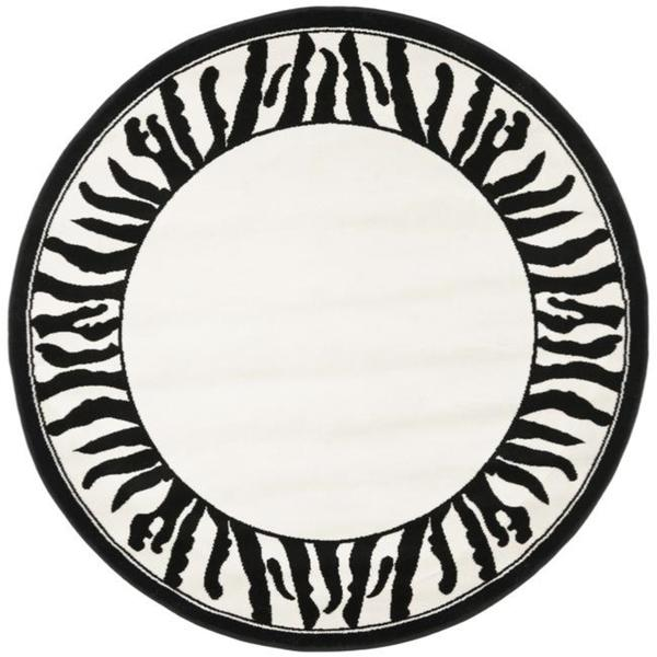 Safavieh lyndhurst contemporary zebra border black white rug 5 safavieh lyndhurst contemporary zebra border black white rug 5x27 voltagebd