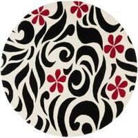 Safavieh Handmade Soho Floral Ivory New Zealand Wool Rug - 6'