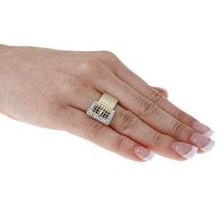 14k Gold 1/3ct TDW Diamond Belt Buckle Estate Ring (I-J, SI1-SI2)
