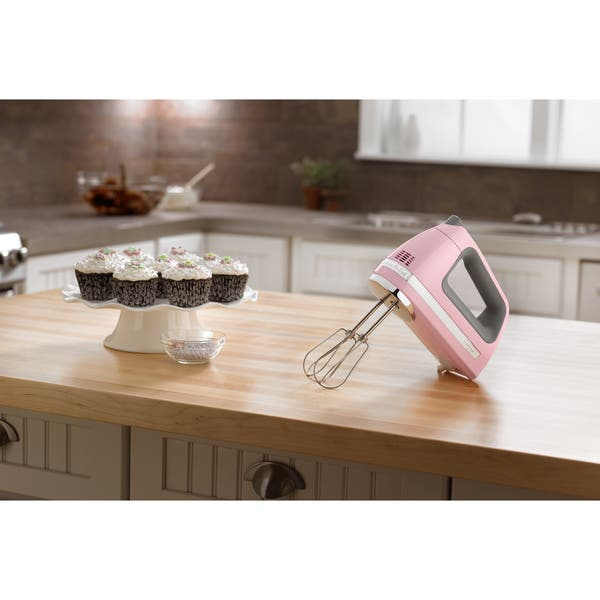 Shop KitchenAid KHM720PK Pink 7-speed Digital Hand Mixer ...