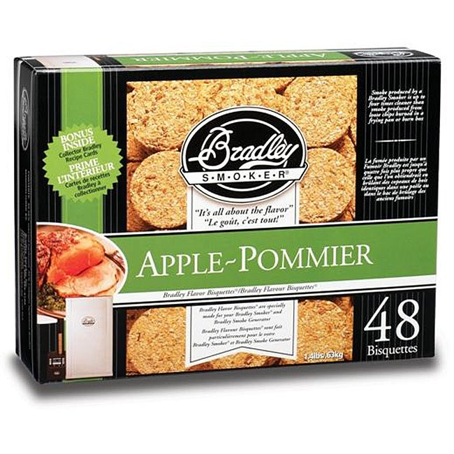 Bradley Smokers Apple Bisquettes (Case of 48)