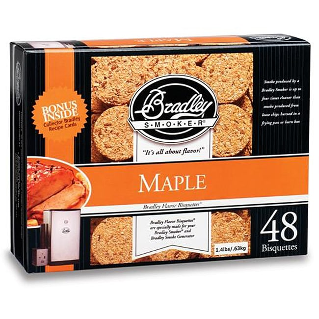 Bradley Smoker Maple Bisquettes (Case of 48)