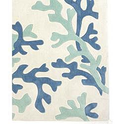 Hand-tufted Neutral Abstract Rug (7'6 x 9'6)