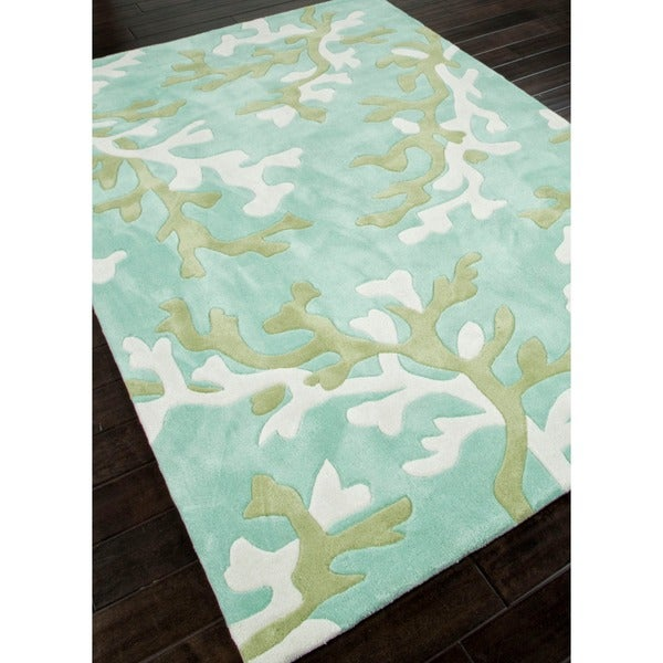 Hand-tufted Blue Abstract Rug (7'6 x 9'6)