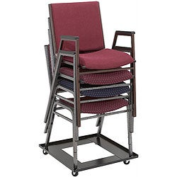 NPS Steel Eight-to-ten Chair Stack Dolly on Swivel Casters
