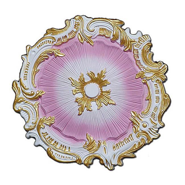 Hand-painted 16.75-inch Starburst Ceiling Medallion