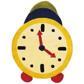 Herat Oriental Indo Hand-tufted Multicolor Clock Wool Rug (2'8 x 3'8)