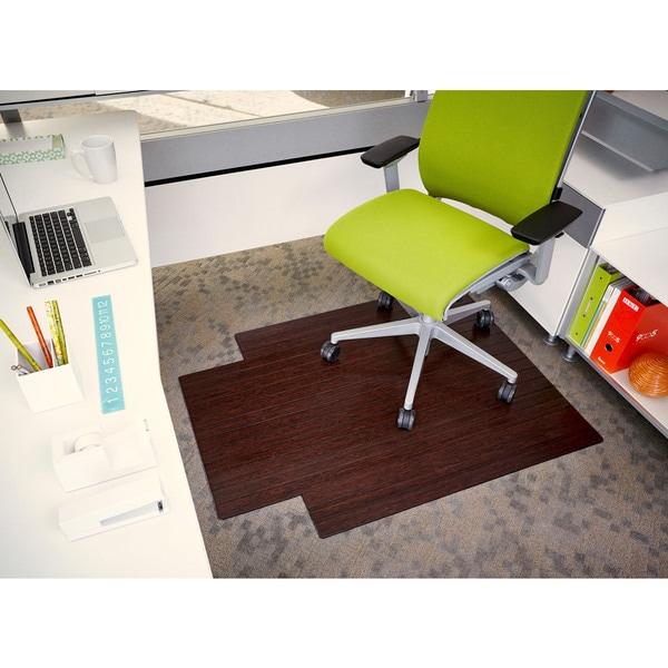 Shop Eco Bamboo Standard Cherry Chair Mat 36 X 48 Free