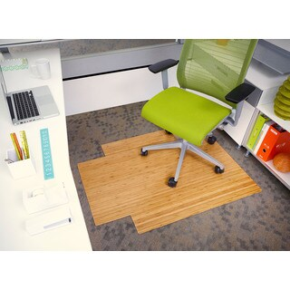 Eco Bamboo Standard Natural Chair Mat (36' x 48')