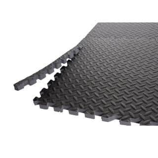 CAP Barbell Anti-Microbial Puzzle-like Grey PVC Foam Floor and Gym Mats