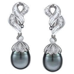Kabella 18k White Gold Tahitian Pearl and 1 1/6ct TDW Diamond Earrings (11-12 mm) (G-H, SI2)|https://ak1.ostkcdn.com/images/products/5513193/Kabella-18k-White-Gold-Tahitian-Pearl-and-1-1-6ct-TDW-Diamond-Earrings-11-12-mm-G-H-SI2-P13294331a.jpg?impolicy=medium