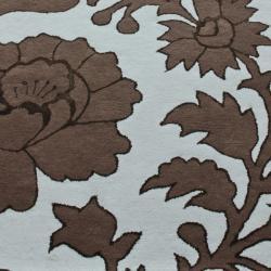 nuLOOM Handmade Modern Premium Wool Blue Orchard Rug (5' x 8')
