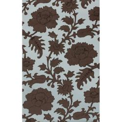 nuLOOM Handmade Modern Premium Wool Blue Orchard Rug - 5' x 8' - Thumbnail 0
