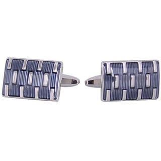 Cuff Daddy Rhodium Silver Galvanized Cufflinks