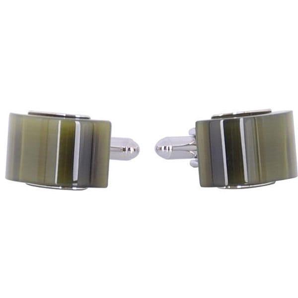 Cuff Daddy Rhodium Fiber Optic Olive