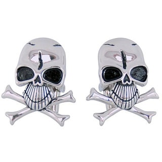 Cuff Daddy Stainless Steel Skull and Crossbones Cufflinks
